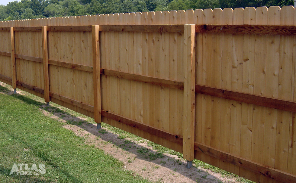 Privacy Wood Postmaster Fence