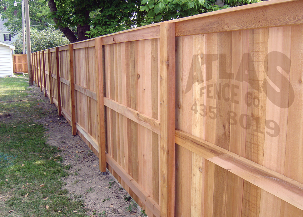 postmaster wood privacy fence installed